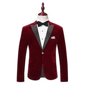#1 Red Tuxedo Jacket