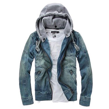 mans Jeans Jacket with Hat